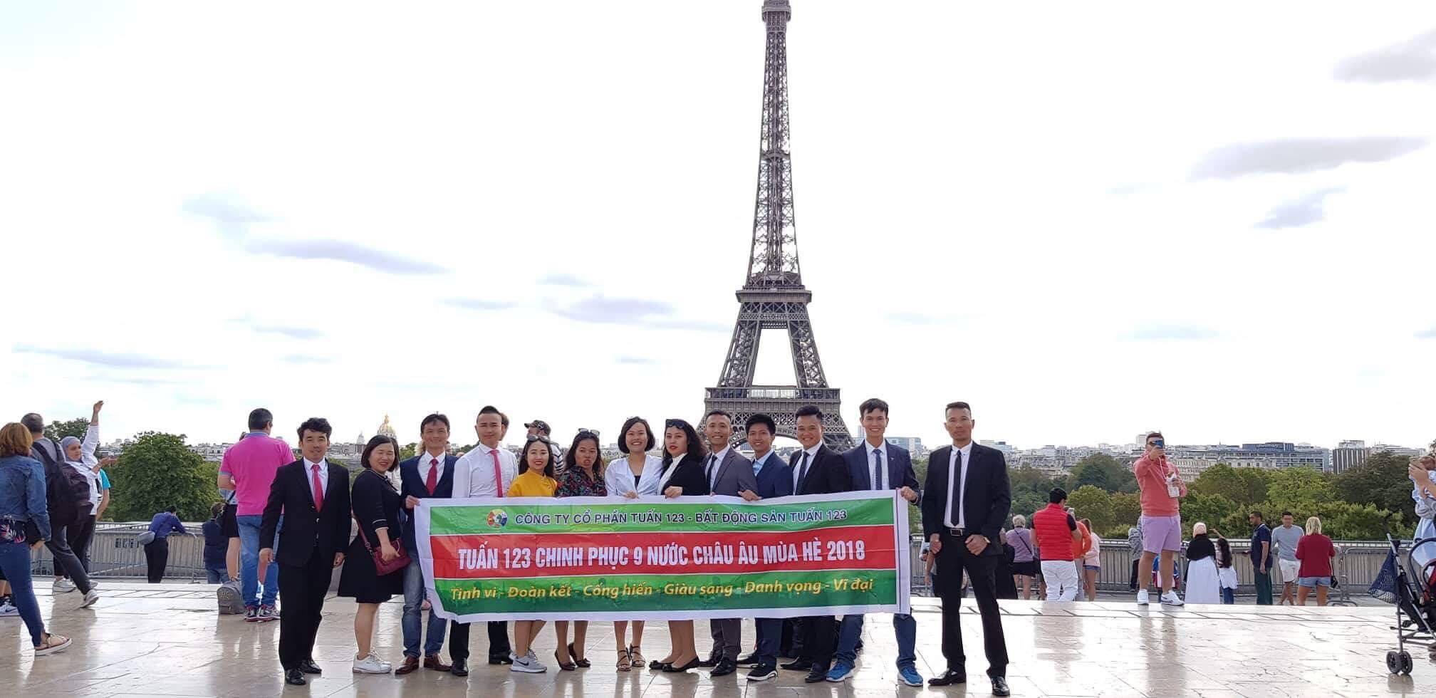 Bất động sản Tuấn 123 chinh phục Châu Âu hè 2018
